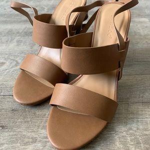 Tan/Nude block Heels